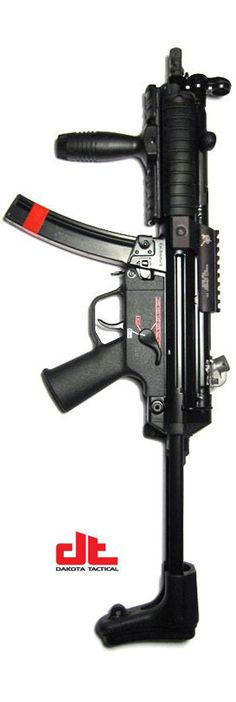 HK MP5F. If you want a super reliable, near exact clone of a real MP5, call my friend Joe at Dakota Tactical.