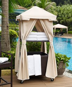 Take a look at this Sand Cover Palm Harbor Outdoor Wicker Towel Valet today!