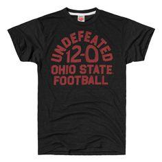 HOMAGE Ohio State Buckeyes Football 12-0 Undefeated T-Shirt - $28.00