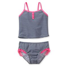 d0b82447848b5 Carters 2 Piece Swimsuit Stripes Navypink 12 Months -- You can find out  more details