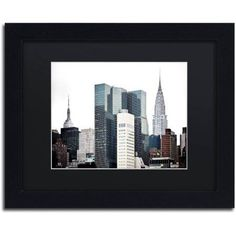 Trademark Fine Art New York Architecture Canvas Art by Philippe Hugonnard, Black Matte, Black Frame, Size: 11 x 14, White