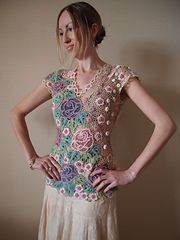 Ravelry: Irish lace summer top blouse pattern by Olga Antonova