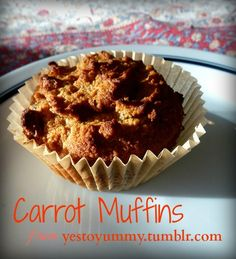 Carrot Muffins #paleo / http://www.rubiesandradishes.com/2013/05/08/carrot-muffins-from-yes-to-yummy/