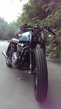 My newly built Triumph Bonneville Cafe Racer/Tracker/Brat bike...