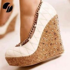 Gold-bottom wedges.God, If you're listening, Please .