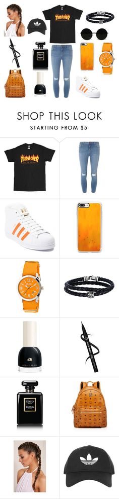 """Fashion"" by reinahafez ❤ liked on Polyvore featuring Dorothy Perkins, adidas, Casetify, Crayo, Phillip Gavriel, Chanel, MCM and Topshop"