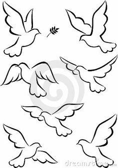 Illustration about Illustration of simple dove symbol. Illustration of leaf, card, animal - 21762505 Bird Drawings, Easy Drawings, Dove Drawing, Peace Drawing, Drawing Art, String Art, Bird Art, Vector Art, Vector Kunst