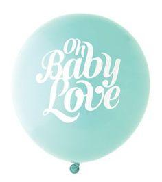 Baby Love Balloon: Aqua/White