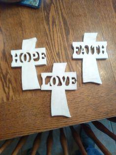Hope, Love, Faith crosses