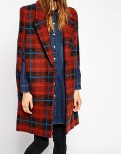 plaid cape coat