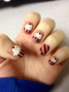 Cupcake nails I did last night.  Love them so much!