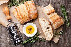 Sliced bread Ciabatta and oil by liskina-nora on @creativemarket