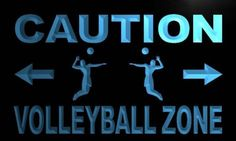 Caution Volleyball Zone Neon Light Sign