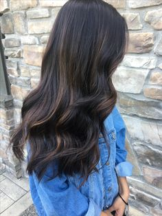 subtle dark hair caramel balayage