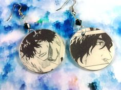 Upcycled Bleach Manga featuring Chad Original Geekery Earrings  by RedLotusDesignz