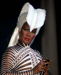 Grace Jones, Chevrons & Feathers