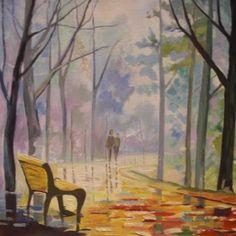 Joan Pauló - Arbres de Tardor amb Parella - Árboles de Otoño con Pareja - Autumn Trees with Romance
