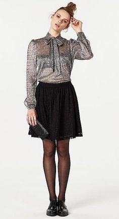 #top #silver #fashion #Wehkamp #VeroModa #damesmode #strik #lurex