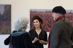 Art Opening w/Beret.   Nina Weiss/Prairies.  Great River Road Museum of Contemporary Art.  April 1 2016.