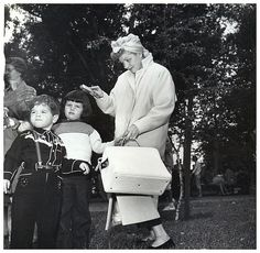 Lucille Ball with her children.