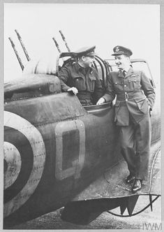 Original wartime caption: Pilot Officer R.G. White [standing] and Pilot Officer J.r. Gravegen, of Auckland, N.Z. Vintage Air, Ww2 Aircraft, Aircraft Pictures, Royal Air Force, Luftwaffe, Newfoundland, World War Two, Armed Forces, First World