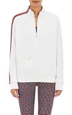 e9586e861ce3 We Adore  The Striped-Sleeve Half-Zip Sweater from Tory Sport at Barneys