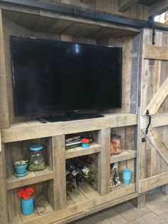 reclaimed wood rustic outdoor tv cabinet with by
