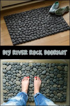 2 minute boot tray makeover with river rocks boot tray - River stone walkway ideas seven diy projects ...