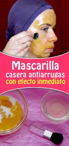 Mascarilla casera antiarrugas con efecto inmediato