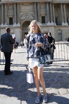 Maja Salamon at Dior SS 2015 Paris Snapped by Benjamin Kwan Paris Fashion Week