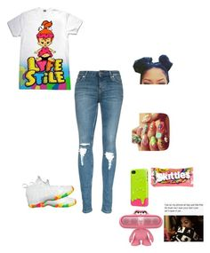 """""""."""" by flawless23forever ❤ liked on Polyvore featuring SwitchEasy, NIKE, River Island, women's clothing, women, female, woman, misses and juniors"""