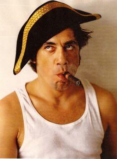 Javier Bardem--ok it's a cigar but still a great portrait