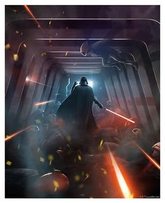 The Geeky Nerfherder: #CoolArt: 'Power Of The Dark Side' by Andy Fairhur...