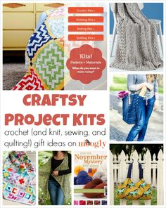 Craftsy Project Kits are fab: #crochet #knitting #sewing and #quilting! Great gift idea!