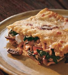 One of my favorite lasagna recipes. Last time I made it, I added cauliflower and broccoli. Yum.