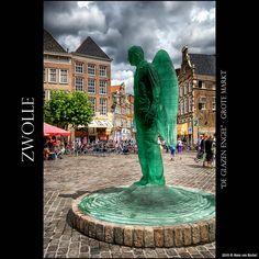 Glazen Engel siert de binnenstad van Zwolle