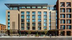 The Maven Hotel - Johnson Nathan Strohe Mix Use Building, High Rise Building, Building Design, Facade Design, Exterior Design, Hotel Floor Plan, Architect Magazine, Hotel Architecture, Colorado Homes