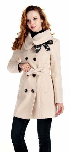 WARM & CHIC: CHAREX Women Wool Blends Coat Slim Trench Winter Coat Long Jacket Outwear: Clothing