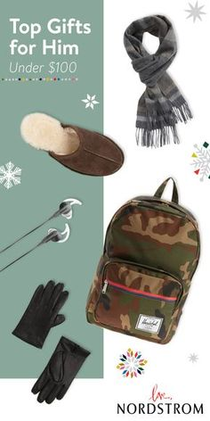 Give him the gift of great style with top picks under $100. Cozy UGG slippers, a luxe cashmere scarf and leather gloves are just a few of the winter wonders he'll love. Find gifts for him at Nordstrom.