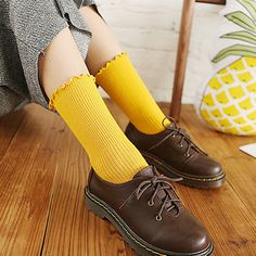2e5354715bbc Fashion Winter Warm Women Retro Knit Crochet Cotton Soft Long Socks Boots  Socks