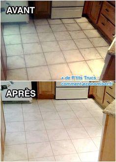 Recette maison pour nettoyer sol très sale. Avant et après