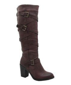 Look what I found on #zulily! Brown Violet Wrap Boot #zulilyfinds
