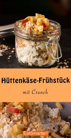 Cottage cheese breakfast with crunch & eatsmarter.de cheese The post Cottage cheese breakfast with crunch appeared first on Trendy. Healthy Desayunos, Healthy Sweet Snacks, Protein Snacks, Easy Snacks, Healthy Recipes, Cottage Cheese Breakfast, Breakfast Desayunos, Breakfast Casserole, Protein Breakfast