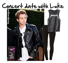 """""""Concert date w/ Luke"""" by magicmagcon ❤ liked on Polyvore featuring Hudson, H&M, Vans and Disney"""