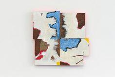 Cordy Ryman Chop and Spin 2010, acrylique et émail sur bois 13,5 x 13,5 x 1 pouces