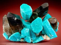 Geology IN: Amazonite crystals with Smoky Quartz and Albite