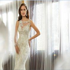 2015-New-Designs-Mermaid-White-Guipure-Lace-Wedding-Dress-High-Neck-Chapel-Train-Sexy-Open-Back.jpg (750×750)