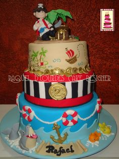 Raquel D'Lourdes Cake Design: Bolos Infantis: for Caleb's bday if he is still obsessed with pirates then