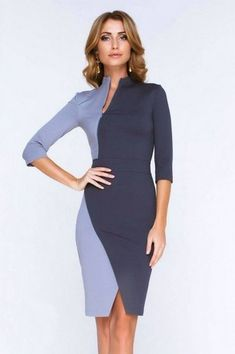 Modest but stylish dresses that are perfect for the office Tight Dresses, Casual Dresses, Fashion Dresses, Dresses For Work, Formal Dresses, Casual Outfits, Office Dresses, Emo Outfits, Dresses Dresses