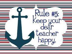 New Whole Brain Teaching Rules, Nautical style - link to freebie